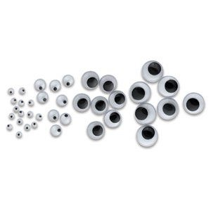 Economy Packed Black Wiggle Eyes - 6 mm, Wiggle Eyes, Pkg of 144 Black
